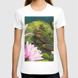 Frog on lily pad T-shirt