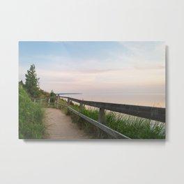 Walking in a Postcard Metal Print