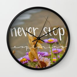 Explore Forever Wall Clock