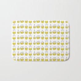 Yellow Shapes Bath Mat