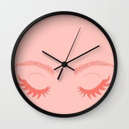 Betty Gone Batty (Coral on Millennial Pink Edition) Wall Clock