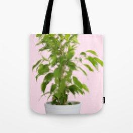Pixelated Pot Plant Tote Bag