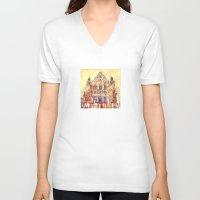 takmaj V-neck T-shirts featuring Poznań by takmaj