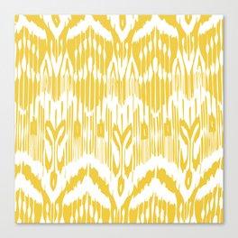 Ikat Waves Canvas Print