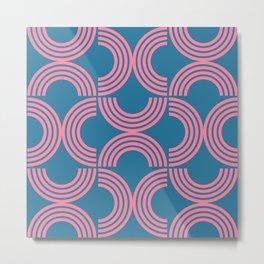 Deco Geometric 01B Metal Print