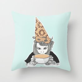 Birthday witch Throw Pillow