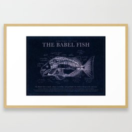Babel Fish Anatomy (Monochrome) Framed Art Print