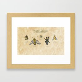 wannabees: Bee Mimicking Inects Framed Art Print