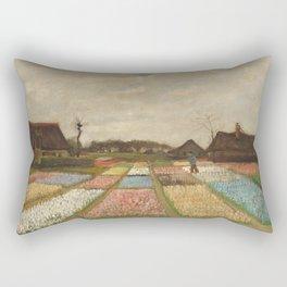 Vincent van Gogh - Bulb Fields or Flower Beds in Holland (1883) Rectangular Pillow