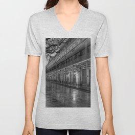 New Orleans, French Quarter, Jackson Square black and white photograph / black and white photography Unisex V-Neck