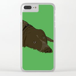 Gunner the German shorthaired pointer Clear iPhone Case