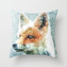 abstract fox Throw Pillow