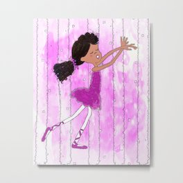 Dance Little Ballerina Metal Print