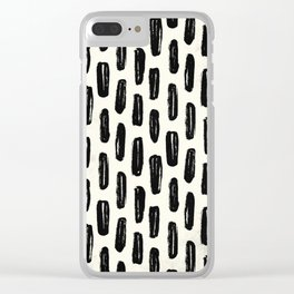 Ivory Vertical Dash Clear iPhone Case