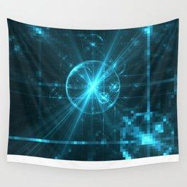 Cyber Pixel Punk Wall Tapestry