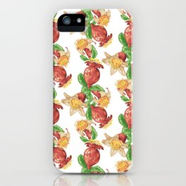 Pomegranate Fruit in Graphic Drawing iPhone Case
