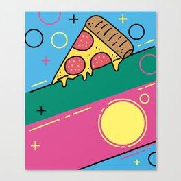 80s Pizza Party Canvas Print