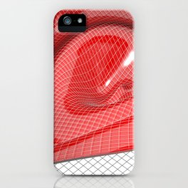 Red waving mathematical surface iPhone Case