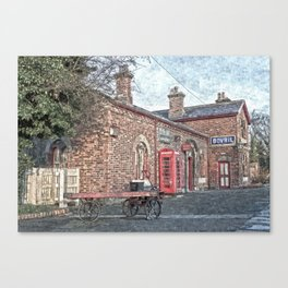 Hadlow Road Oil Painted Canvas Print