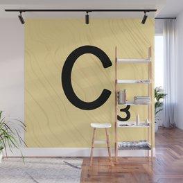 Scrabble C Decor, Scrabble Art, Large Scrabble Prints, Word Art, Accessories, Apparel, Home Decor Wall Mural