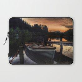 Golden Sunset over Loch Ard Laptop Sleeve