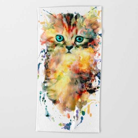Kitten Beach Towel