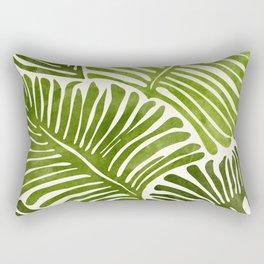 Summer Fern / Simple Modern Watercolor Rectangular Pillow