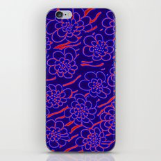 Flowers in blue iPhone & iPod Skin