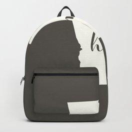 Georgia is Home - White on Charcoal Backpack