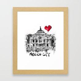 I love Mexico City Framed Art Print