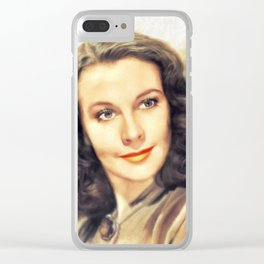 Vivian Leigh, Hollywood Legend Clear iPhone Case