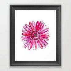 Pink Gerber Daisy Framed Art Print