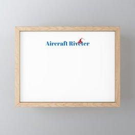 Aircraft Riveter Ninja in Action Framed Mini Art Print