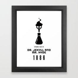 A Century of Horror Classics :: Strange Case of Dr. Jekyll & Mr. Hyde Framed Art Print