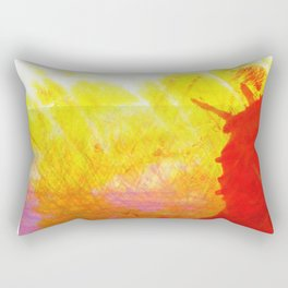 Tubular Red Rectangular Pillow
