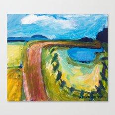 Turning Road Canvas Print