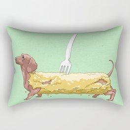BATTERED SAUSAGE DOG Rectangular Pillow
