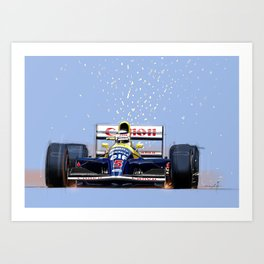 Nigel Mansell Art Print