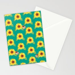 Sunflower Hamster Stationery Cards