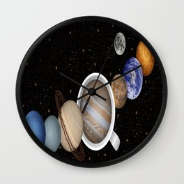 Coffee in Space 2 Wall Clock