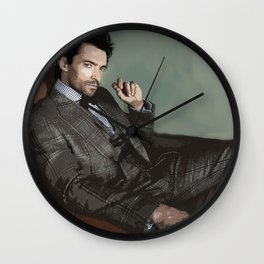 Hugh Jackman 3 Wall Clock
