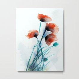 Poppies Metal Print