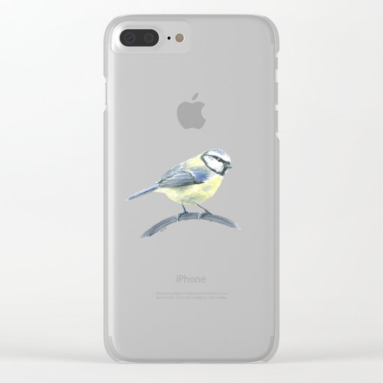 Blue tit, watercolor painting Clear iPhone Case
