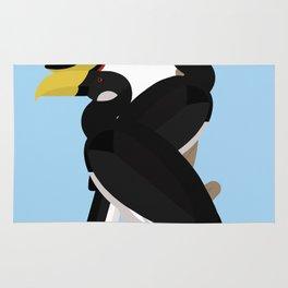 Malabar pied hornbills Rug