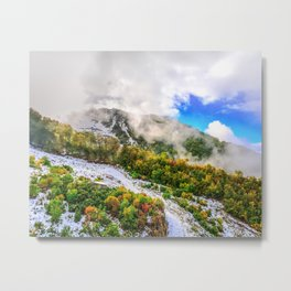 Autumn in Mountains Metal Print