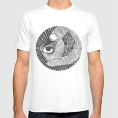 un œil andalou MEDIUM White Mens Fitted Tee