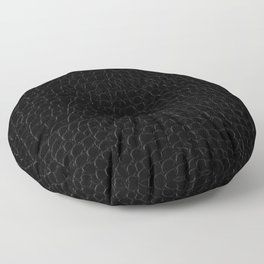 Realistic Black Alligator Skin Print Floor Pillow