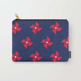 Red Pinwheels Pattern Carry-All Pouch
