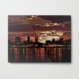 Angry Sunset. Metal Print