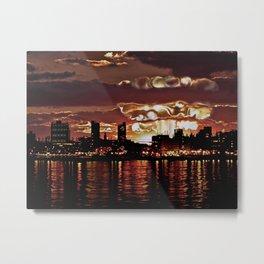 Angry Sunset. Metal Print